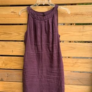 Ann Taylor Loft Dark Purple Dress Size 6 Linen